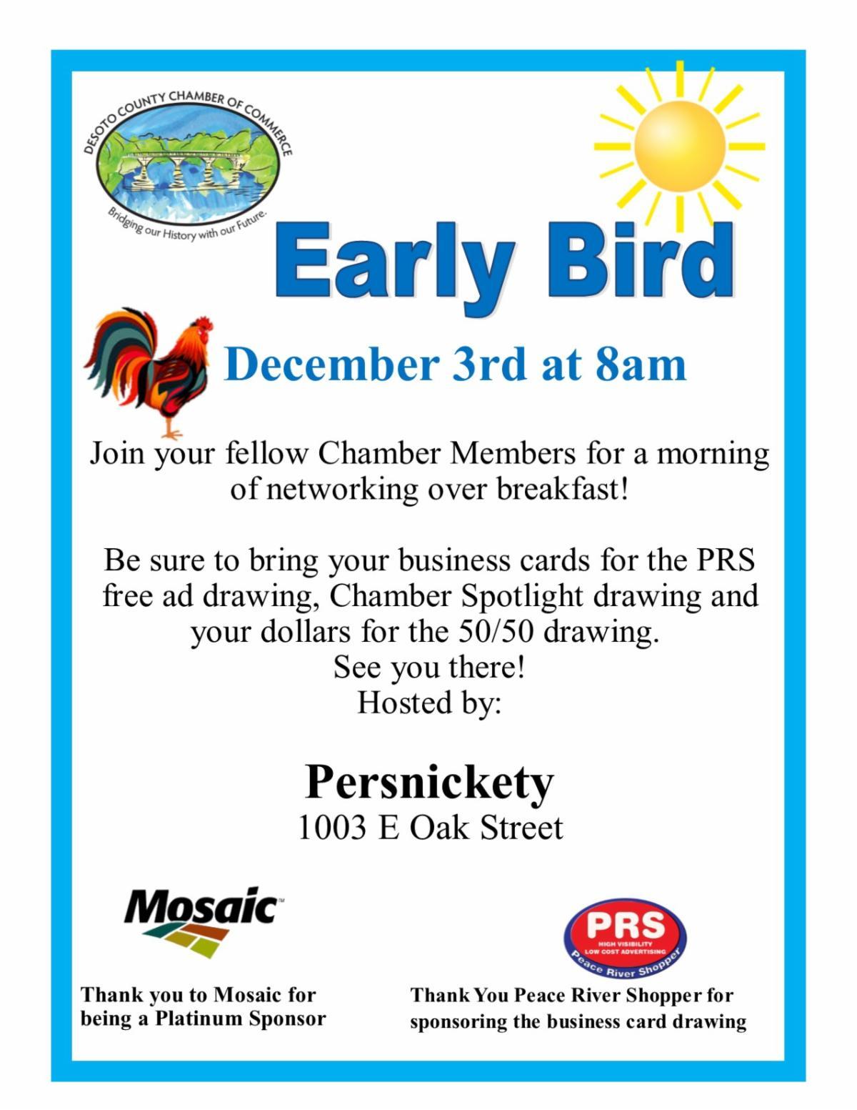 Early bird December 2020