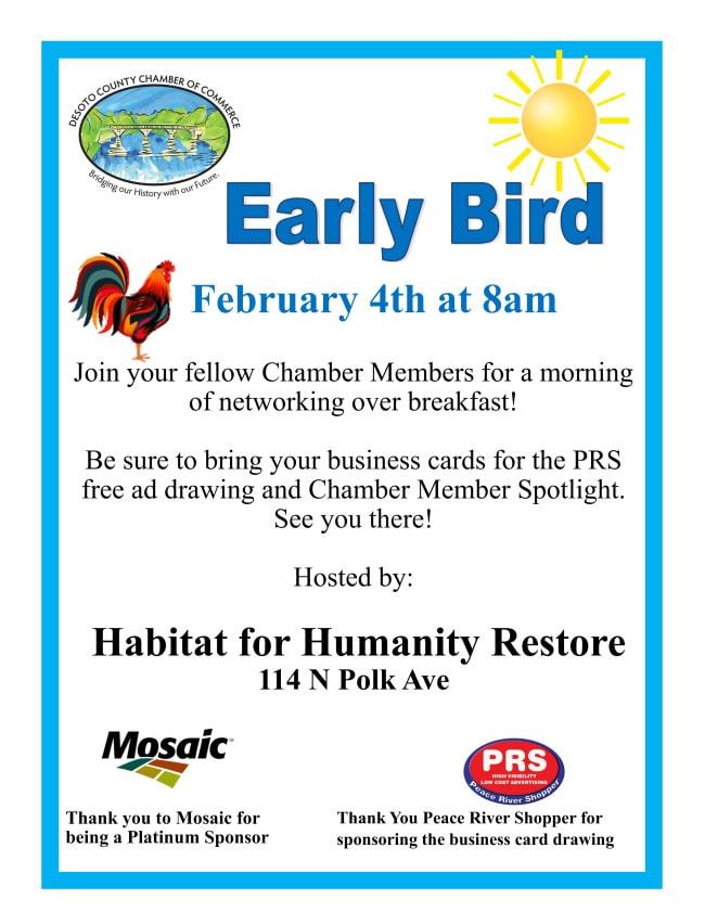 Early bird February 2021