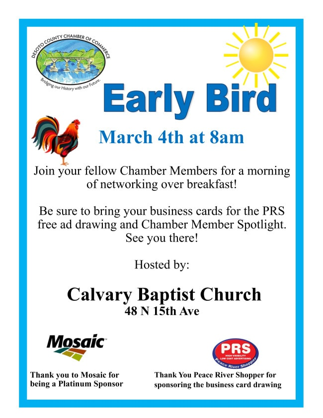 Early bird March 2021