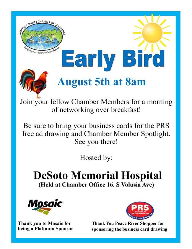 Early bird August 2021