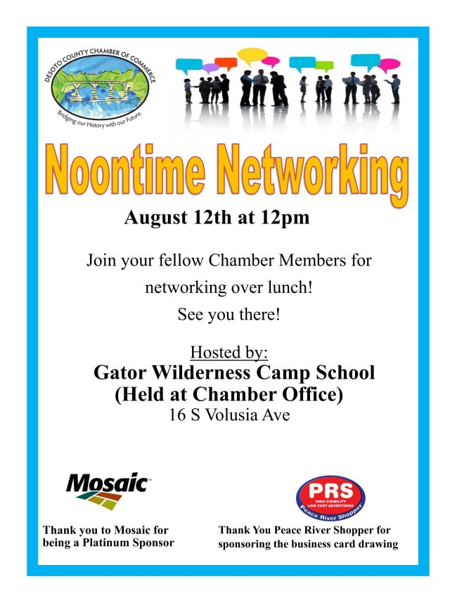 Noontime Networking August 2021