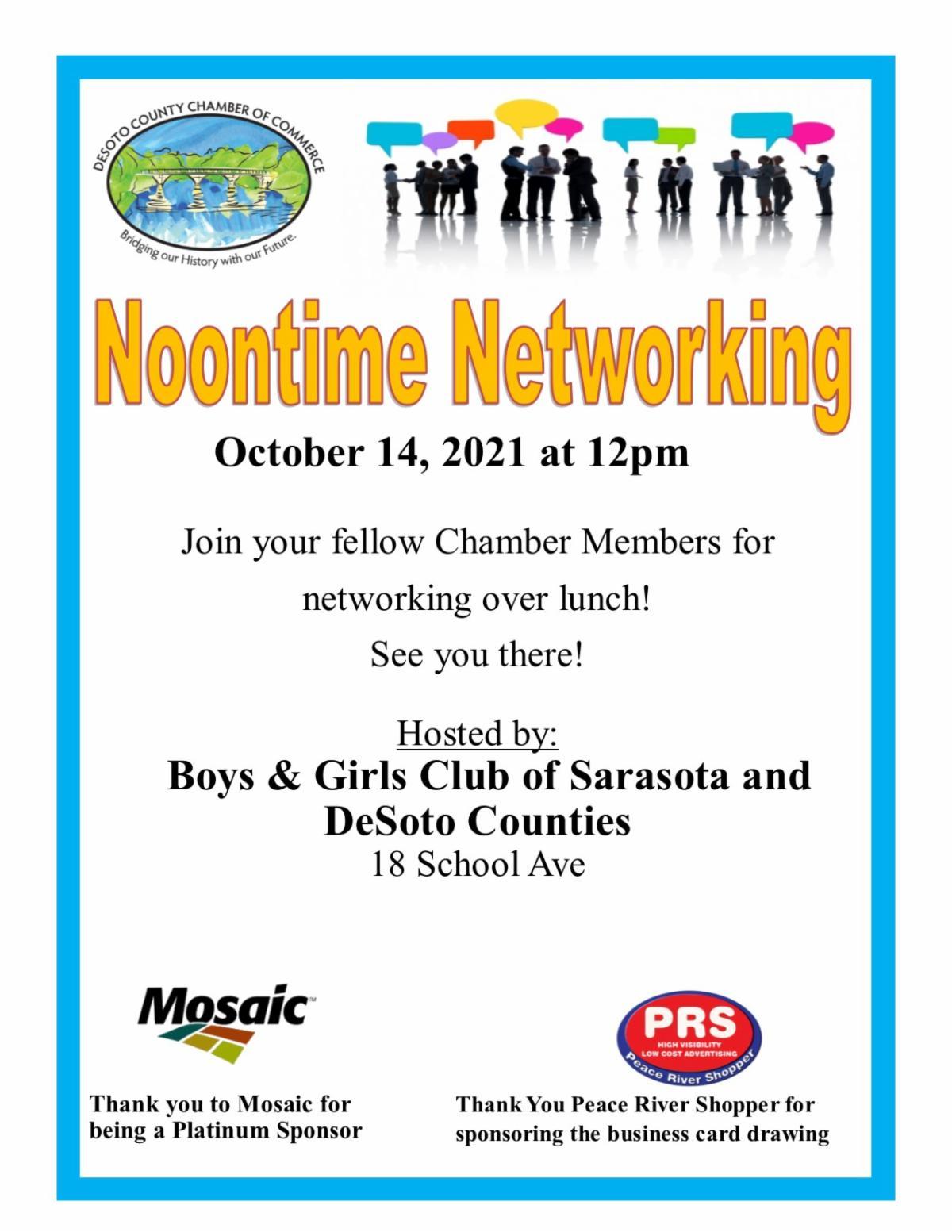 Noontime Networking October 2021